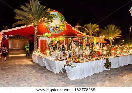 Shopping Street Market  Stores In Aruba Island
