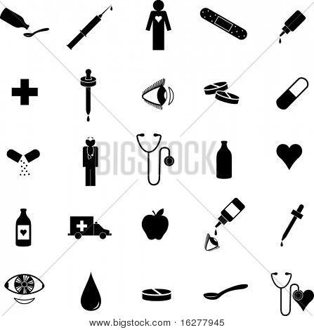 medical and health care symbol set