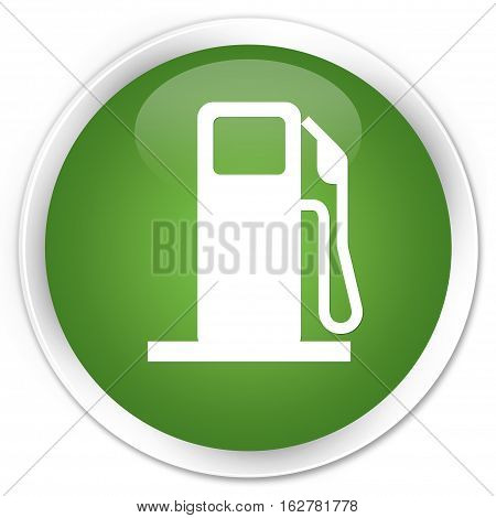 Fuel Dispenser Icon Premium Soft Green Round Button