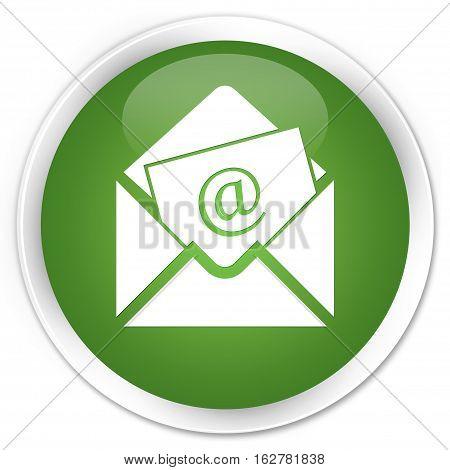 Newsletter Email Icon Premium Soft Green Round Button