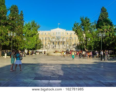 View Of Syntagma Square And The Parliament In Athens