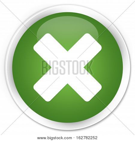 Cancel Icon Premium Soft Green Round Button