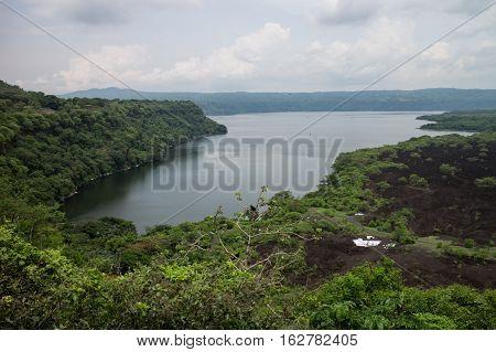 laguna de Masaya view with clouds from Nicaragua