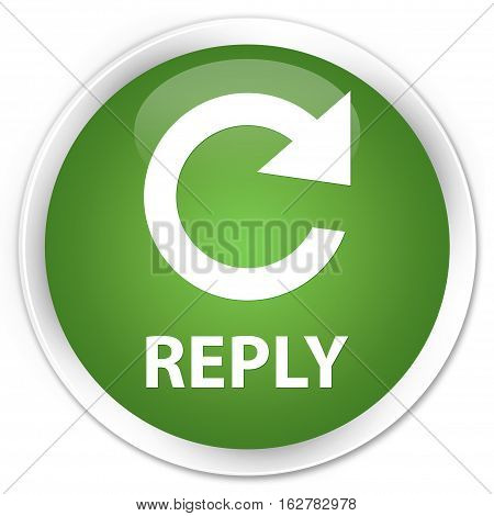 Reply (rotate Arrow Icon) Premium Soft Green Round Button