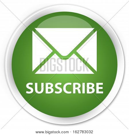 Subscribe (email Icon) Premium Soft Green Round Button