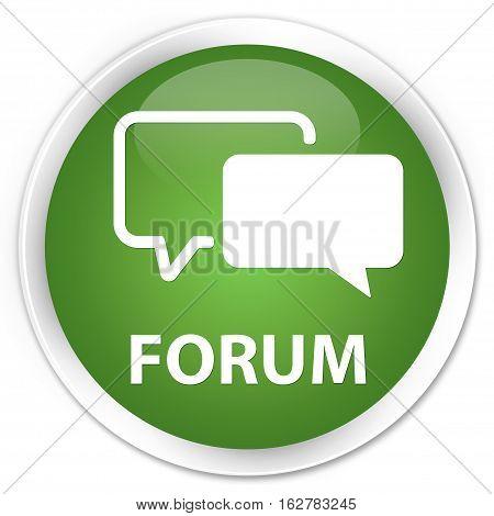 Forum Premium Soft Green Round Button