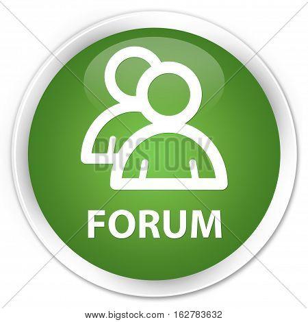 Forum (group Icon) Premium Soft Green Round Button