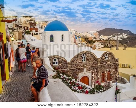 Amazing View Of Oia Village At Santorini
