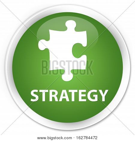 Strategy (puzzle Icon) Premium Soft Green Round Button