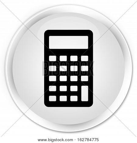 Calculator Icon Premium White Round Button