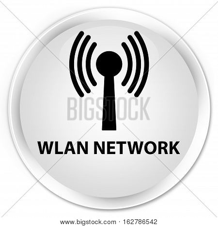 Wlan Network Premium White Round Button
