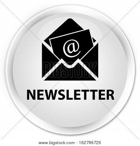 Newsletter Premium White Round Button
