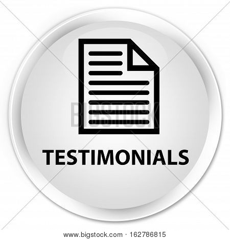 Testimonials (page Icon) Premium White Round Button