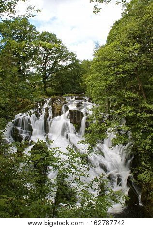 Swallow Falls Waterfall Betws Y Coed North Wales