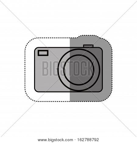 Camera device icon. Gadget technology and photography theme. Isolated design. Vector illustration
