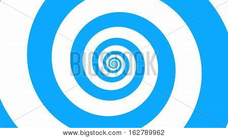 Babby blue spiral Optical illusion illustration, abstract background graphics asset, Hypnotising whirlpool effect