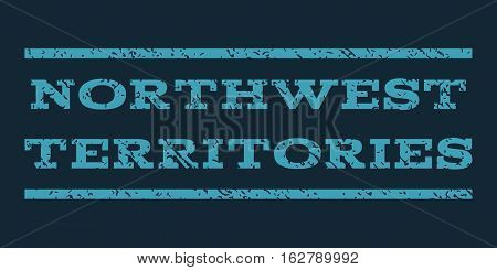 Northwest Territories watermark stamp. Text caption between horizontal parallel lines with grunge design style. Rubber seal stamp with dust texture.