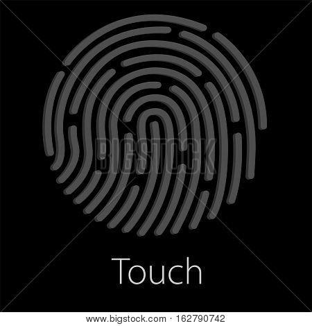 ID app icon. Fingerprint vector illustration. Phone