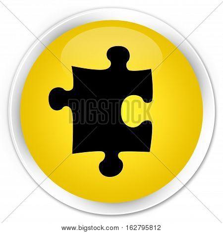 Puzzle Icon Premium Yellow Round Button