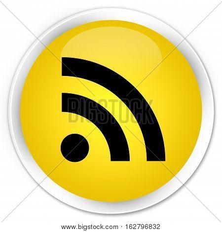 Rss Icon Premium Yellow Round Button