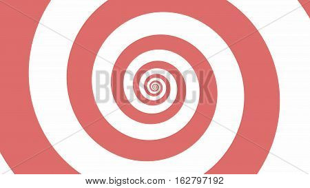 Soft Pink spiral Optical illusion illustration, abstract background graphics asset, Hypnotising whirlpool effect