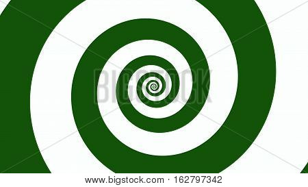 Green & white spiral Optical illusion illustration, abstract background graphics asset, Hypnotising whirlpool effect