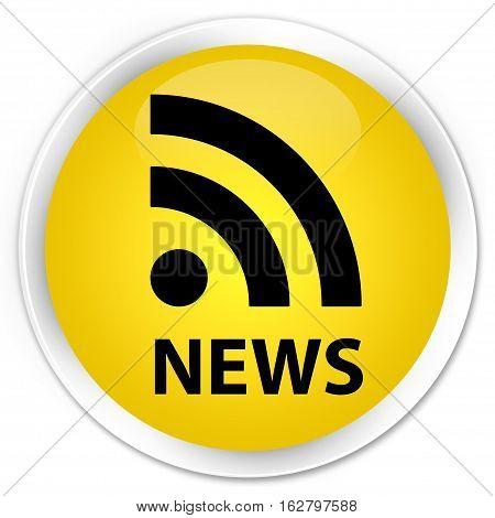 News (rss Icon) Premium Yellow Round Button