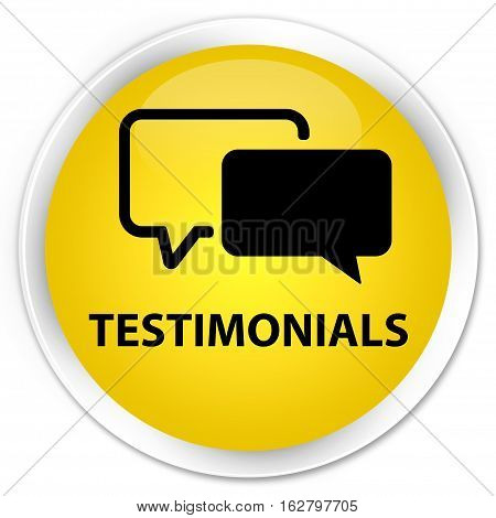 Testimonials Premium Yellow Round Button