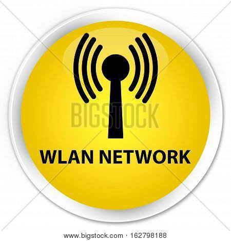 Wlan Network Premium Yellow Round Button