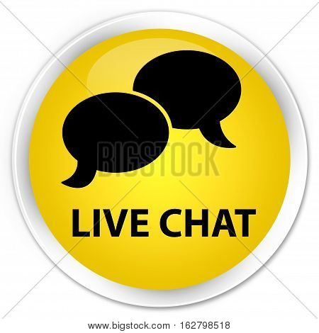 Live Chat Premium Yellow Round Button