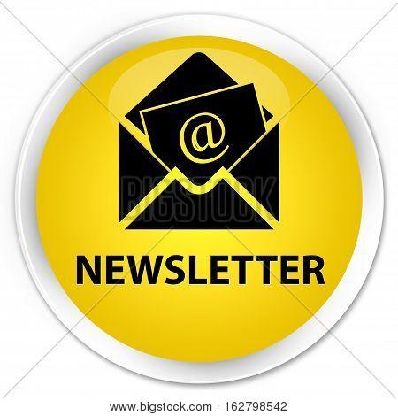 Newsletter Premium Yellow Round Button
