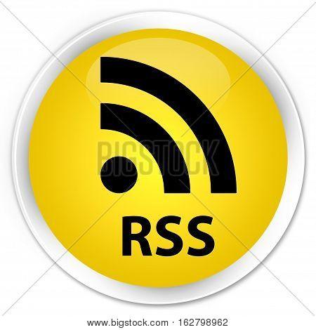 Rss Premium Yellow Round Button