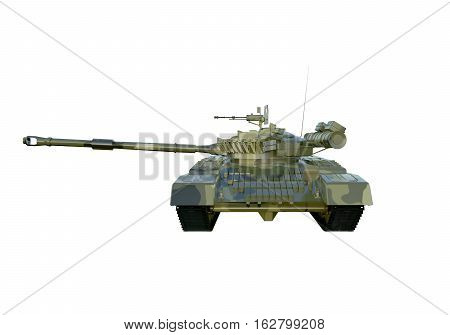 Russian military tank T-90. isolate on white background. 3d rendering