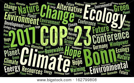 COP 23 word cloud in Bonn, Germany
