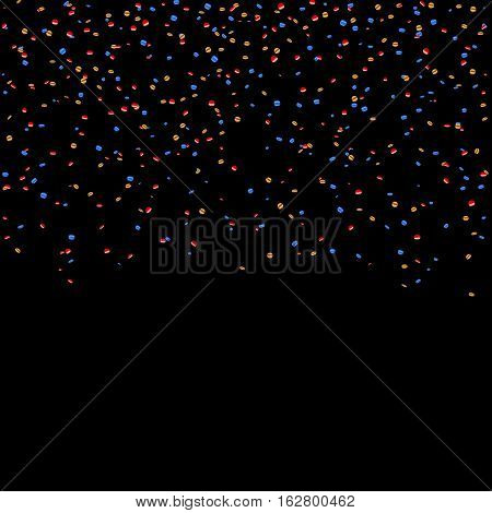 Gold Blue Red Confetti Background