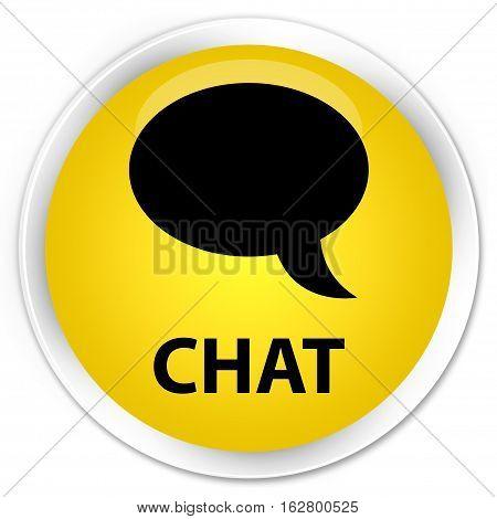 Chat Premium Yellow Round Button