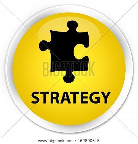 Strategy (puzzle Icon) Premium Yellow Round Button