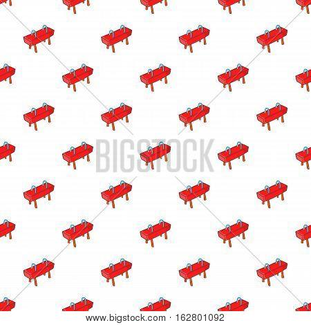 Pommel horse pattern. Cartoon illustration of pommel horse vector pattern for web