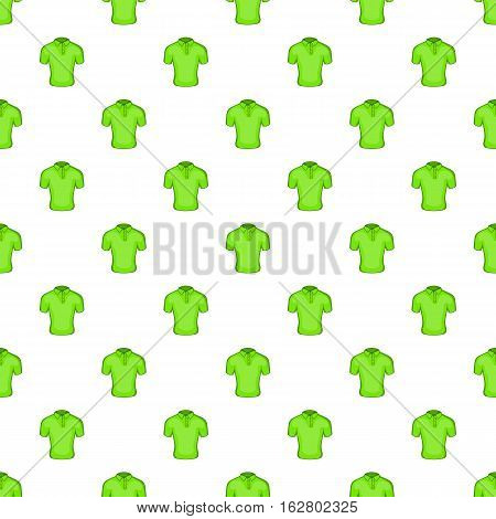 Men green polo pattern. Cartoon illustration of men green polo vector pattern for web