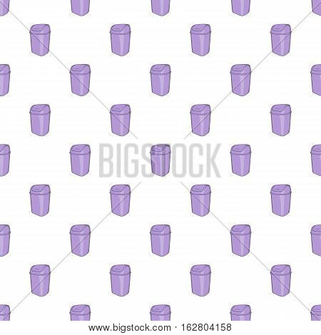 Toilet trash pattern. Cartoon illustration of toilet trash vector pattern for web