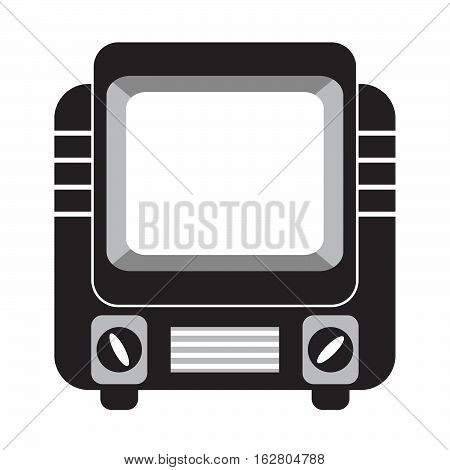 Vector an icon flat with the image of a retro of the old vintage TV. For infographics, an element of design of the websites and leaflets, banners, labels.