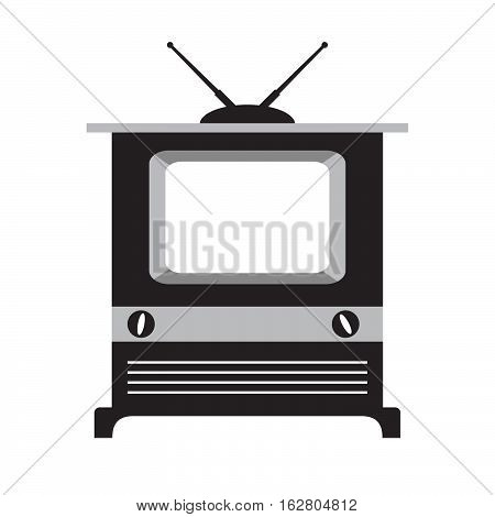 Vector flat with the image of the old TV with the antenna. For infographics, an element of design of the websites and leaflets, banners, labels.