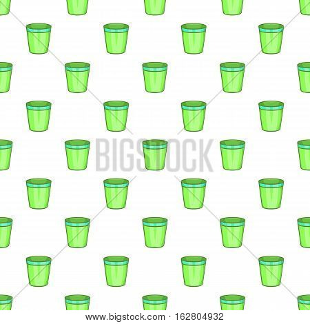 Empty trash can pattern. Cartoon illustration of empty trash vector pattern for web
