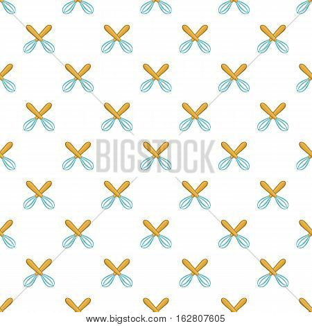 Whisks pattern. Cartoon illustration of whisks vector pattern for web