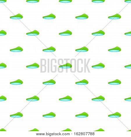 Lake landscape pattern. Cartoon illustration of lake landscape vector pattern for web