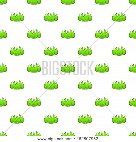 Bushes pattern. Cartoon illustration of bushes vector pattern for web