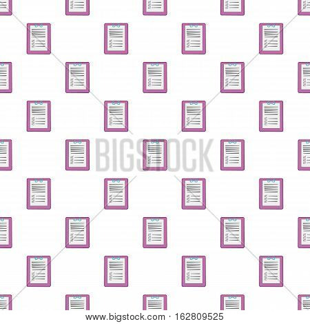 Diagnosis on paper pattern. Cartoon illustration of diagnosis on paper vector pattern for web