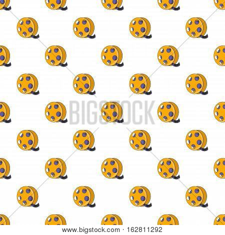 Cartoon illustration of tape with film vector pattern for web