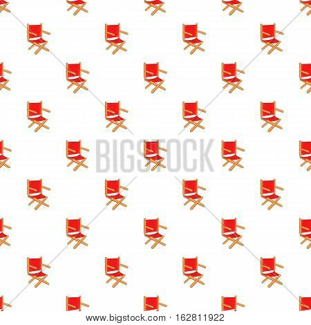 Cartoon illustration of directors chair vector pattern for web