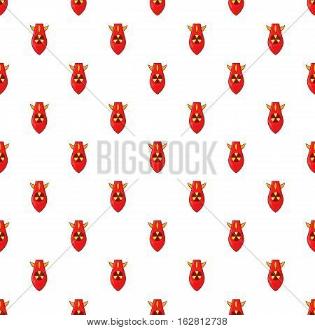 Cartoon illustration of nuclear warhead vector pattern for web